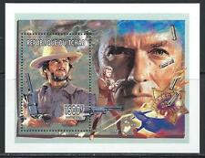 Movie Star - Clint Eastwood MNH Souvenier Sheet - From Tchad
