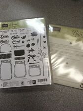 Stampin Up ! Jar of Love Photopolymer Clear Stamp Set 37 ~ NIP