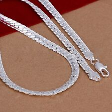 "5mm 925 Solid Sterling Silver Necklace Chain 20"" inch Fashion Men Women ED"