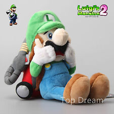Super Mario Luigi's Mansion Plush Luigi Soft Toy Stuffed Animal Doll Teddy 10""