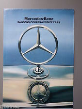 Sales Brochure, Mercedes-Benz Car Range 1982, G-Wagon/T Series Estate,280/300D
