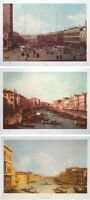 The Grand Canal & Piazzetta prints Set of 3 - Canaletto -48x33cm Venice prints