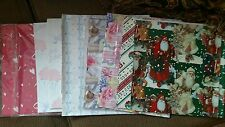 Lot 9 pieces 1980s Vintage Wedding Christmas American Greatings Wrapping Paper