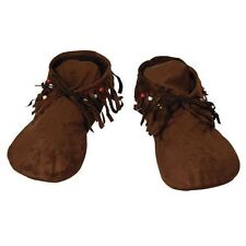 Fancy Dress Costume Wild West Indian or Hippy Moccasins Unisex - BA456