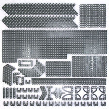 Lego Technic Dark Stone Grey Studless Beams Liftarms - Selection 325 Parts - NEW