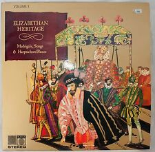 Elizabethan Heritage Music for Madrigals and Harpsichord Record LP