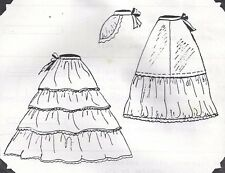 "17-26""ANTIQUE FRENCH FASHION LADY DOLL UNDERWEAR/HOOP PETTICOAT&BUSTLE PATTERN"