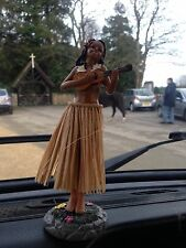 "WV DASHBOARD HULA GIRL PLAYING A UKULELE  7"" WOBBLY TRADITIONAL HAWAIIAN GIRL."