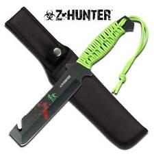 Zombie Z Hunter Apocalypse Saw Guthook Machete Slayer Knife Green Survival 023