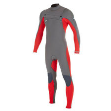 New Quiksilver Men's Ignite Red/Graphite 3/2mm Full Chest Zip WetSuit Sz. L