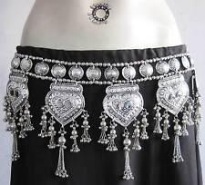 Vintage Tribal Fringe BELT Rave Festival Bellydance pant dress hip scarf Jewelry