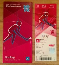 LONDON 2012 TICKET HOCKEY MENS FINAL GERMANY 11 AUG PLUS SPECTATOR GUIDE *MINT*
