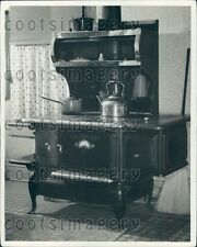 Antique Glenwood Cast Iron Stove A Ewing Galloway Press Photo