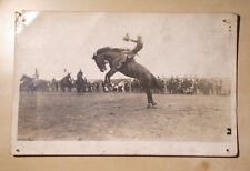 Calgary Stampede Rodeo Cowboys Grey Made in Canada Postcard