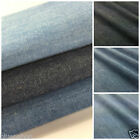 per half metre 100% cotton 4 oz washed denim light, medium or dark 146 cm wide