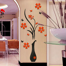 L 60 x 140 cm Crystal 3D Wall Sticker Acrylic Flower Tree Room Decal Art  Home