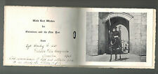 Original 1947 Palestine Police Christmas New Years Card with Photo