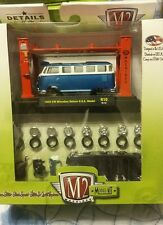 M2 Model-Kit 1959 VW Microbus Deluxe Blue Release #10 1:64th Die Cast
