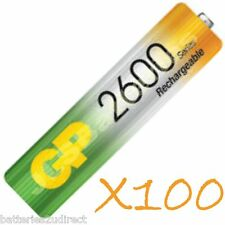 100 x GP AA 2600 Series Rechargeable Batteries mAh Ni-Mh 2600mAh 1.2v