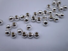 200pcs Silver Plated Metal Round Ball Hole 1MM Spacer Beads Beading DIY 3mm