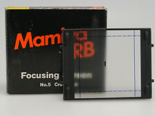 MAMIYA RB SCHERMO MESSA A FUOCO/ FOCUSING SCREEN N.5 ( CROSS HAIR ) NUOVO