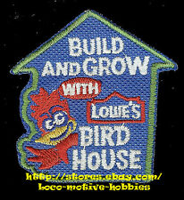Patch  BIRD HOUSE  Kid's Build Grow  LOWES Project Series  BIRDHOUSE