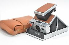 EXC++ FILM TESTED POLAROID SX-70 FOLDING LAND CAMERA w/LEATHER CASE!