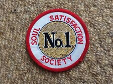 Vintage NORTHERN SOUL Patch Badge No.1 SOUL SATISFACTION SOCIETY Mods Scooter