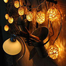 New 20x Romantic Attractive Indoor/Outdoor LED Fairy Weaved Ball String Lights