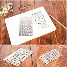 Crafts DIY Toys Kids Metal Drawing Stencil Template Ruler