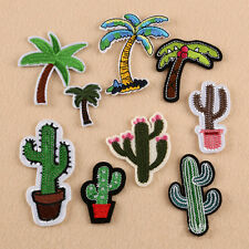 9 x Embroidery Cactus Coconut Tree Sew On Iron On Patch Badge Bag Jeans Applique