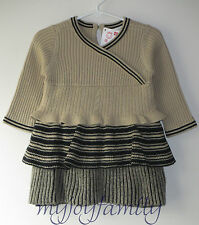 HANNA ANDERSSON Cocoa Weather Cableknit Sweater Dress Twine 70 9-18 months NWT