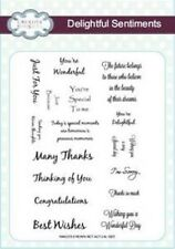 Creative Expressions DELIGHTFUL SENTIMENTS A5 Clear Rubber Stamp Set CEC703