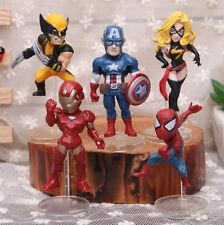 5PCS MARVEL SUPER HERO ACTION FIGURES KIDS CHILD FIGURINES TOY CAKE TOPPER DECOR