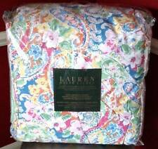 $400 Ralph lauren Springdale Paisley Pink Orange Blue Green Queen Comforter Set