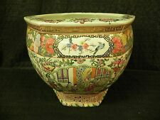 Antique 19th Century Chinese Porcelain Famille Rose Hexagonal Jardinière Pot