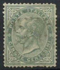 Italy 1863-65 SG#10, 5c Grey Used #D8736