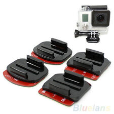 Latest Best 4pcs Flat and Curved Adhesive Sticker Mount for GoPro HD Hero2 Hero3