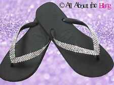 Havaianas flip flops or Wedge with 450 Swarovski Crystals Iridescent AB 4-ROW