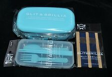 Japanese Bento Lunch Box & Belt 2 tier & Utensil Set Light Blue *Made in Japan*