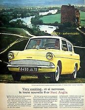 PUBLICITE VOITURE FORD ANGLIA 6 CV VERY EXCITING NERVEUSE DE 1960 FRENCH AD PUB