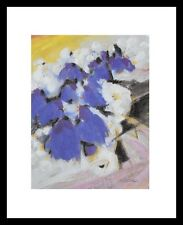 Alfred Gockel Blumen in Vase Poster Bild Kunstdruck im Alurahmen schwarz 30x24cm