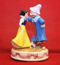"""Disney Schmid SNOW WHITE & DOPEY Musical Box  """"Some Day My Prince Will Come"""""""