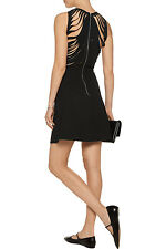 Sandro Cutout back crepe mini dress Black T2 Size M NWT