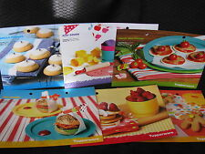 SET OF 6 KIDS KITCHEN 2009 tupperware recipe cards BRAND NEW