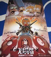 Simpsons cast signed auto 2016 Comic-Con poster Matt Groening Nancy Cartwright