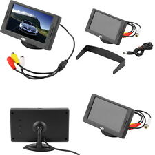"4.3"" LCD TFT Car RearView Headrest Color Monitor For Car Reversing Camera GPS UU"