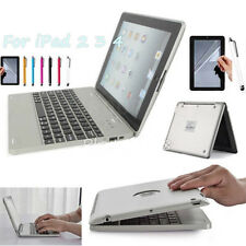 Wireless Bluetooth Keyboard Case Cover With Power Bank Silver For iPad 4 3 2 Gen