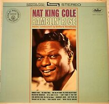 """Nat King Cole """"Ramblin Rose"""" LP Record Reissue? Capitol Green Label VG+ Cond."""