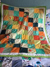 handmade beautiful patchwork Quilt In Moda Block Party Fabric